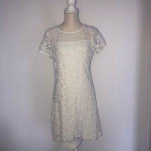 Hollister white lace short sleeve dress NWT